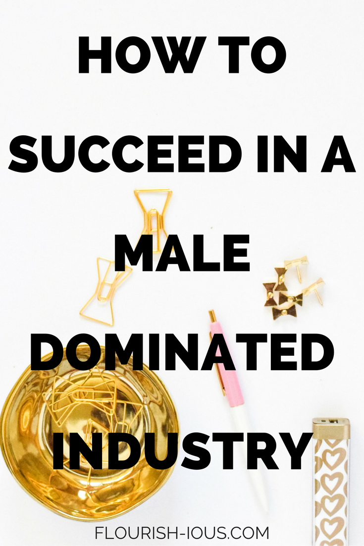 Upward mobility in your career got you down because you work with a ton of men? Stop worrying about what other men think or being labeled as a bitch and use my business tips and personal story to succeed in a male dominated industry